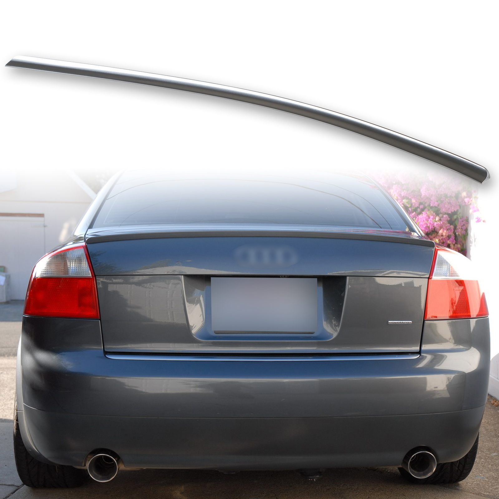 LY9B Brilliant Black FYRALIP Painted Factory Print Code Trunk Lip Wing Spoiler For 2006-2008 Audi A4 B7 Sedan Fast Delivery Easy Installation Perfect Fit