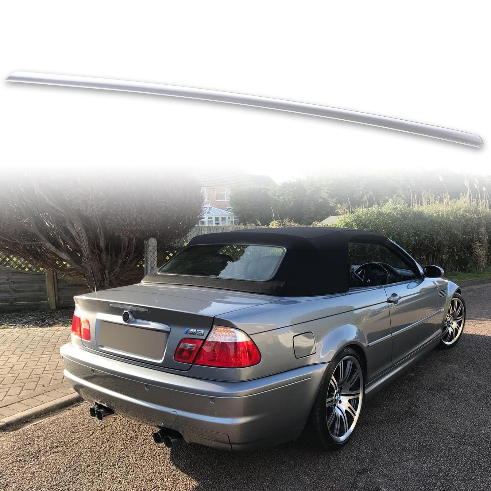 Fit For BMW E46 3er 4DR Sedan Trunk Lip Spoiler 354 Silver paint 00 01 02 03 05