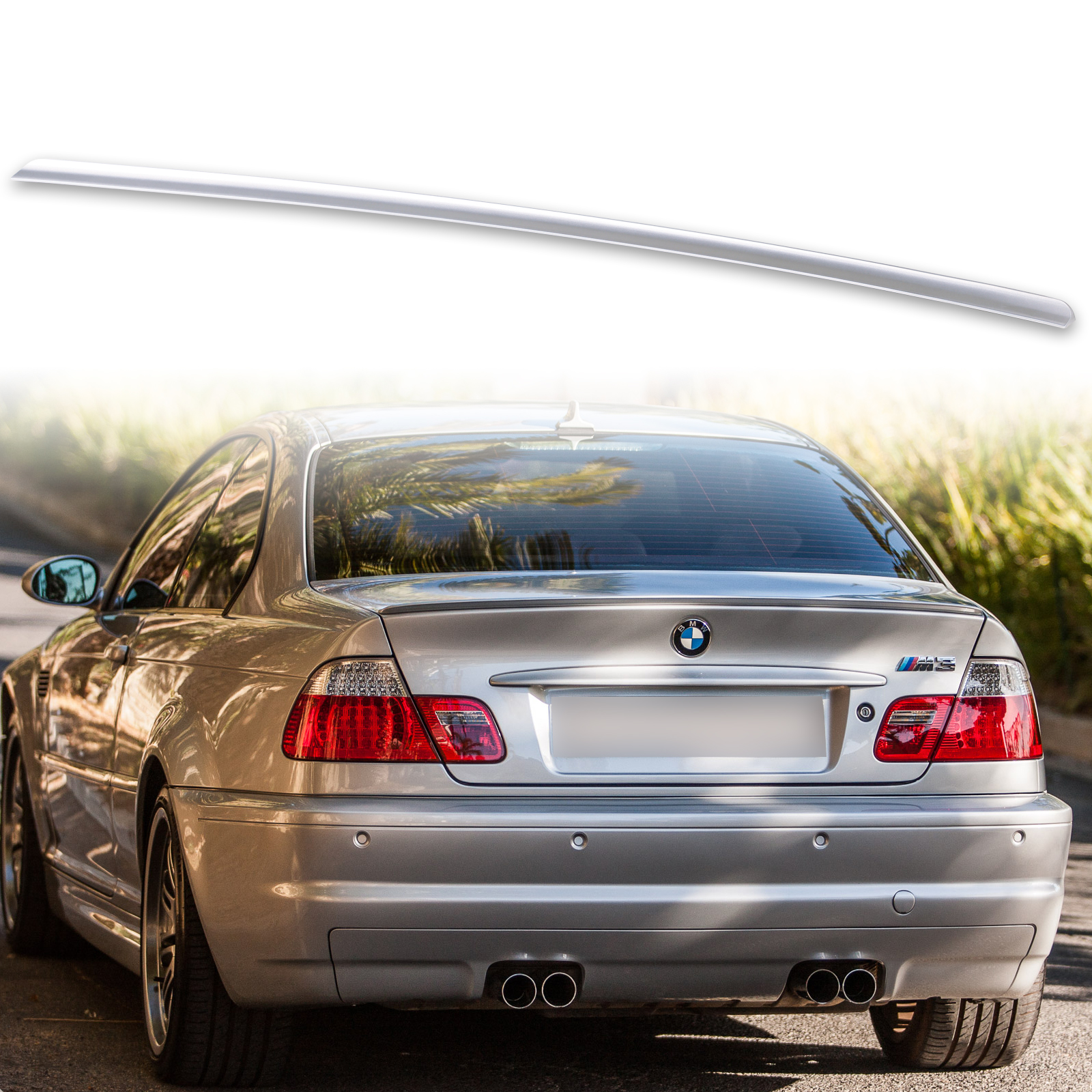 Details About Painted Fyralip Trunk Lip Spoiler For Bmw E46 Coupe M3 Titan Silver Metallic 354