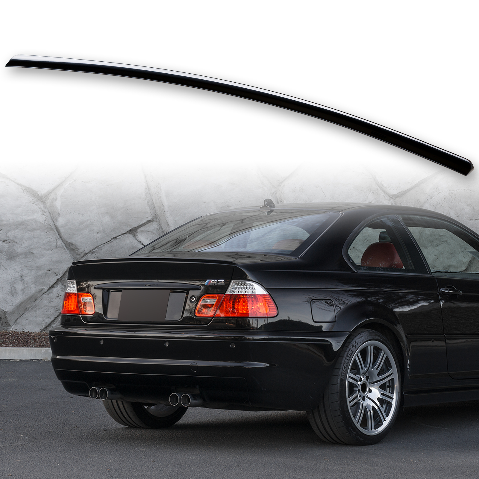 Painted Boot Lip Spoiler For Bmw 3 Series E46 Coupe 99 06 Black Sapphire 475 Ebay