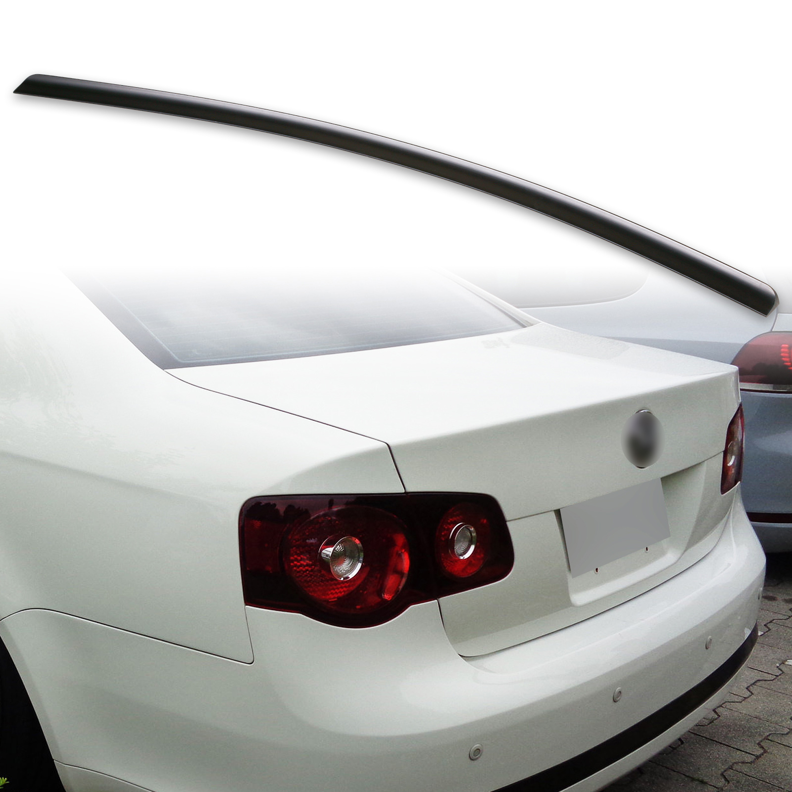 Flat Black 162 SV Rear Trunk Spoiler Wing For 2006~10 VOLKSWAGEN JETTA MK5 Sedan