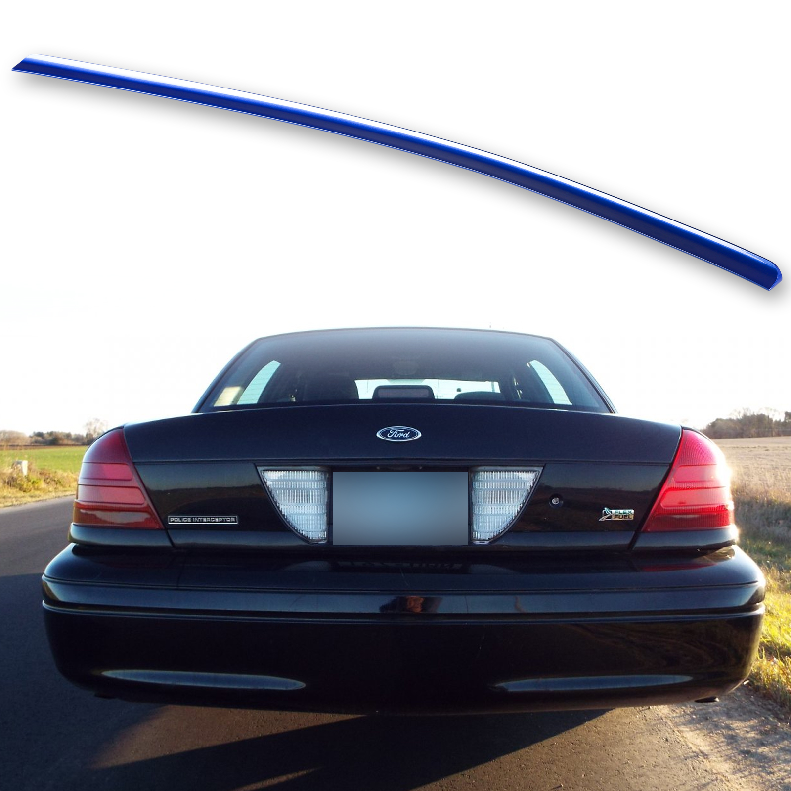 Painted Black Trunk Lip Spoiler R For Ford Crown Victoria Sedan 98-12 Gen 2