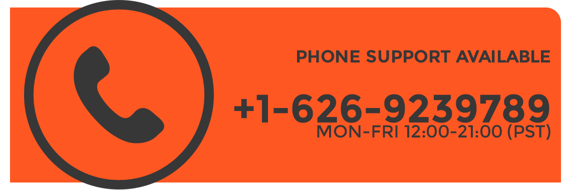 Phone support available